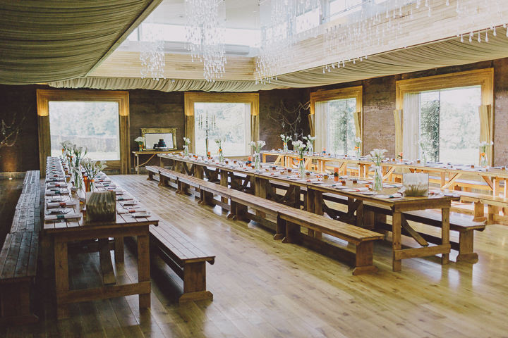 Autumnal Elmore Court wedding breakfast Gloucestershire Wedding By Scuffins Photography