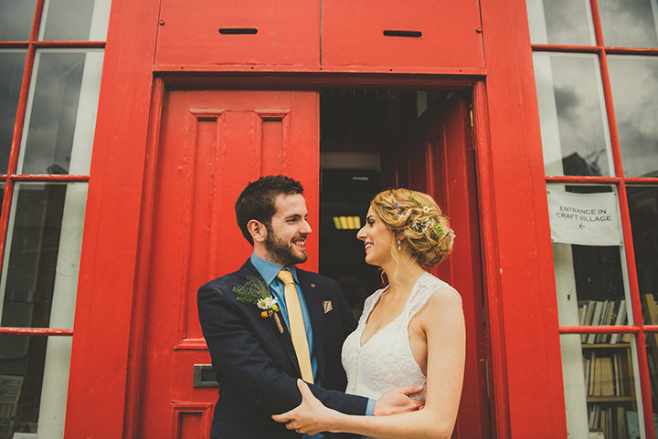 Handmade Wedding happy couple at The Thatched Cottage in Derry by Paula Gillespie