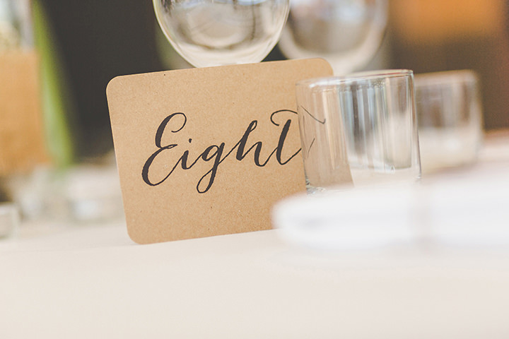 Jennifer and Steven's Romantic and Rustic Italian table numbers at a Wedding By Sam and Louise