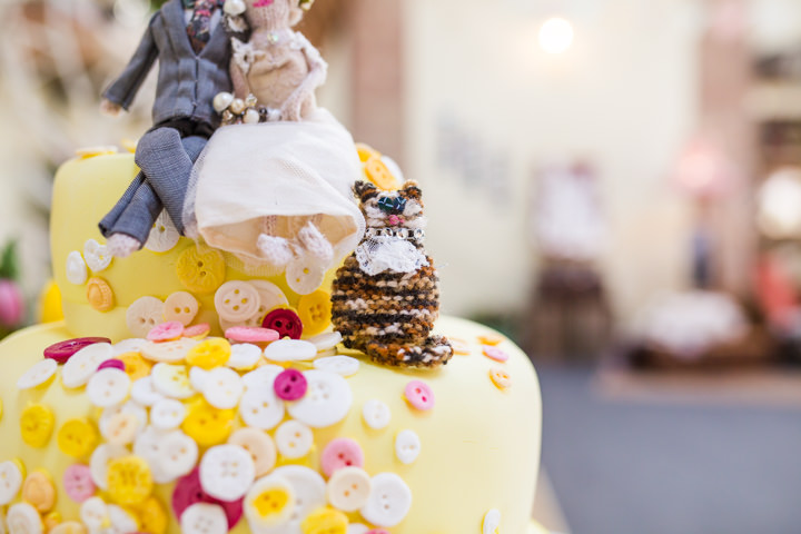 Bride and groom Vintage Inspired cake Great Yarmouth Town Hall Wedding By Tatum Reid Photography