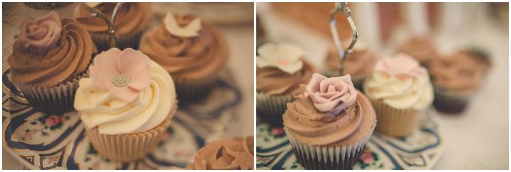 Autumn Wedding in Broncoed Uchaf cupcakes, North Wales By Lottie Elizabeth Photography