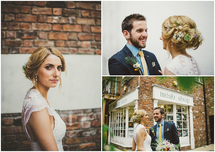 Handmade Wedding portraits at The Thatched Cottage in Derry by Paula Gillespie