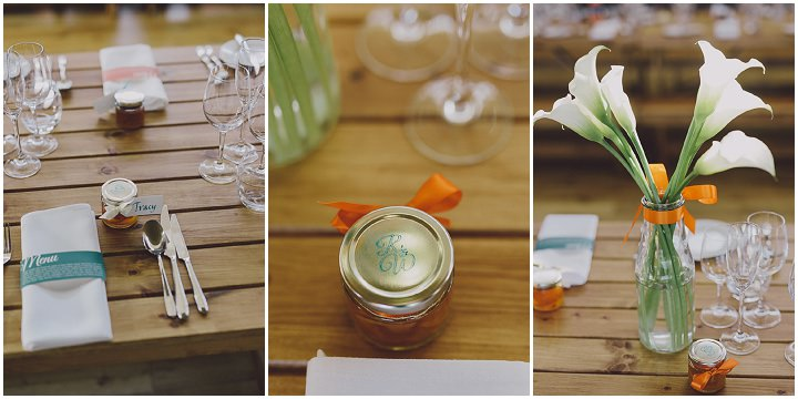 Autumnal Elmore Court wedding favours Gloucestershire Wedding By Scuffins Photography