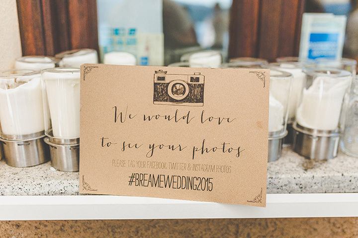 Jennifer and Steven's Romantic and Rustic Italian Wedding hashtag By Sam and Louise