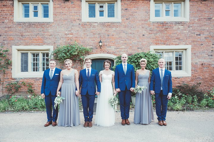 Bridal party at Doddington Hall Lincolnshire Wedding By Phillipa James Photography