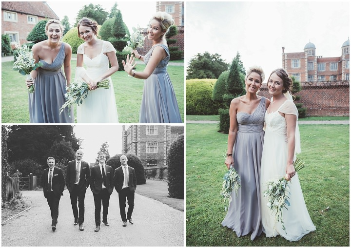 Bridal party pictures in teh gardens at Doddington Hall Lincolnshire Wedding By Phillipa James Photography