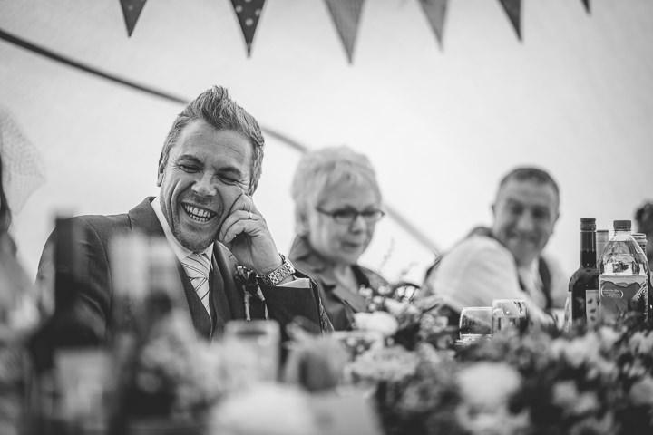 Autumn Wedding in Broncoed Uchaf speeches, North Wales By Lottie Elizabeth Photography