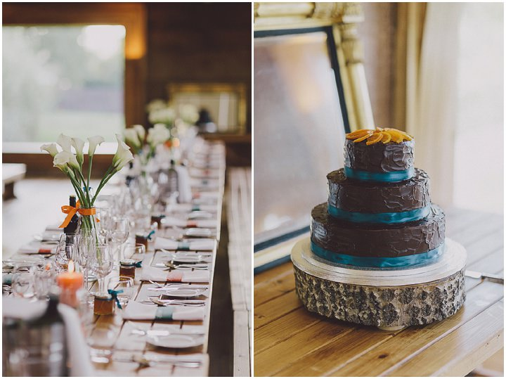 Autumnal Elmore Court Gloucestershire Wedding Cake  By Scuffins Photography