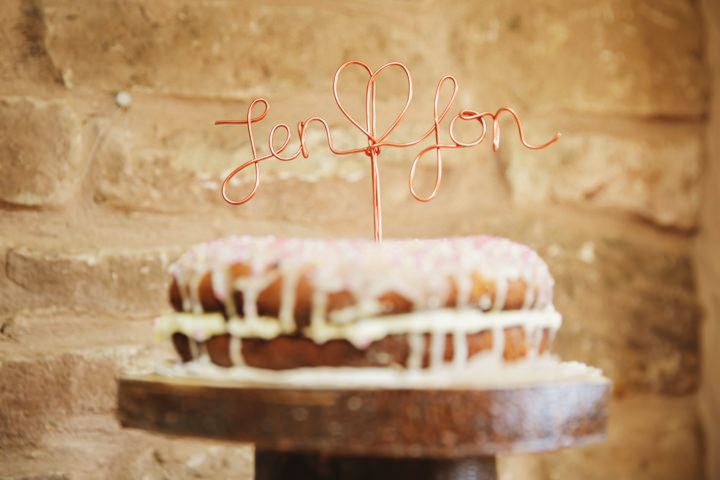 Barn Wedding cake topper in Hereford By Gemma William's Photography