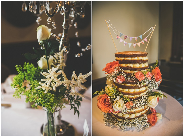 Handmade Wedding naked cake at The Thatched Cottage in Derry by Paula Gillespie