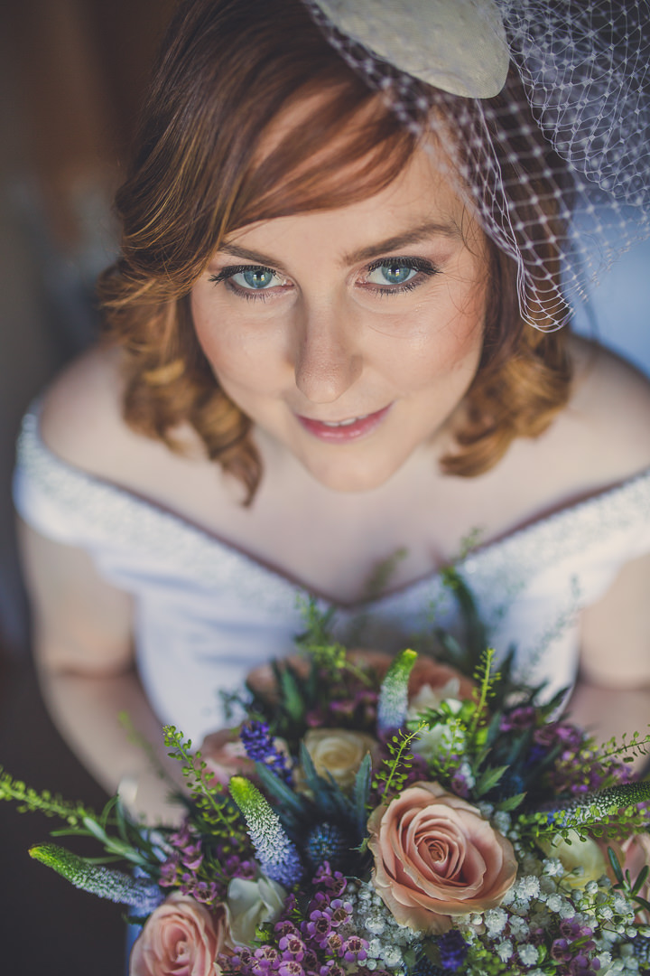 Chloe and Paul's Outdoor Autumn Wedding in North Wales beautiful bride By Lottie Elizabeth Photography