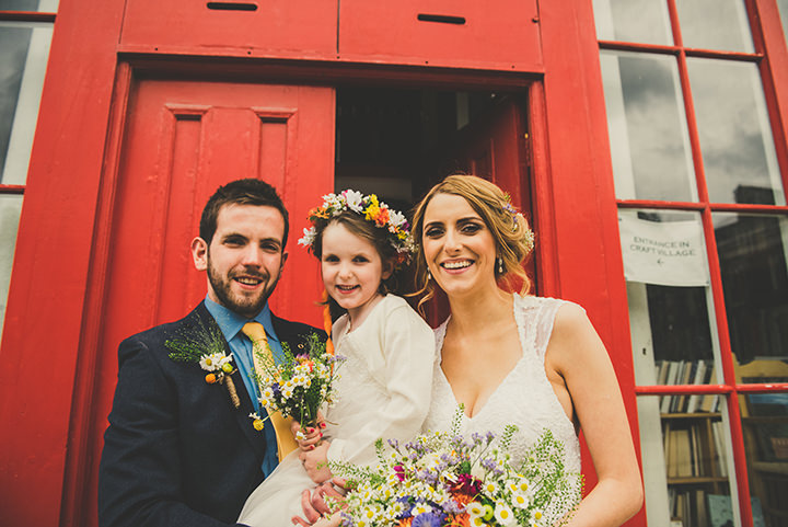 Handmade Wedding family portrait at The Thatched Cottage in Derry by Paula Gillespie