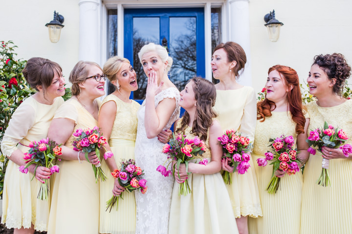 Vintage Inspired bridesmaids Great Yarmouth Town Hall Wedding By Tatum Reid Photography