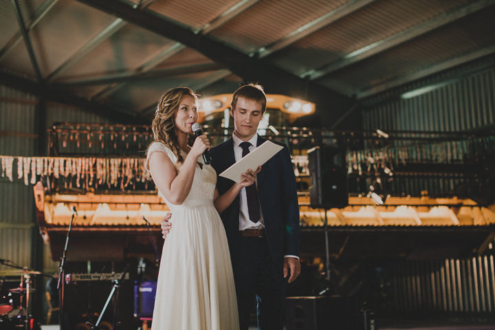 Laid Back Farm Wedding speeches in Estonia By Gerry Sulp Photography