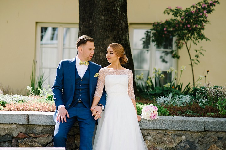 Modern Lithuanian bride and groom at a wedding Wedding By Diana Zak Photography