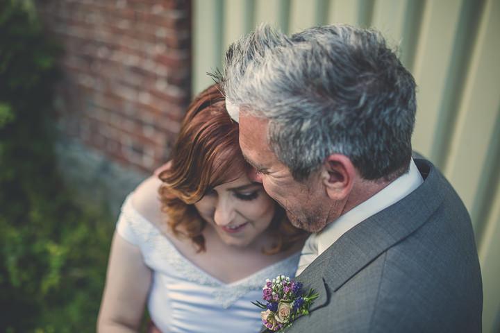 Autumn Wedding in Broncoed Uchaf bride and groom, North Wales By Lottie Elizabeth Photography