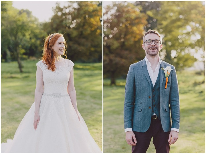 Autumnal Elmore Court bride and groom Gloucestershire Wedding By Scuffins Photography
