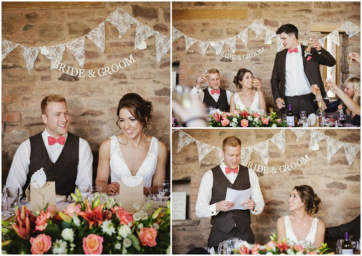 Barn Wedding speeches in Hereford By Gemma William's Photography