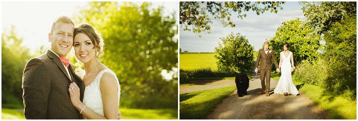 Barn Wedding couple in light in Hereford By Gemma William's Photography