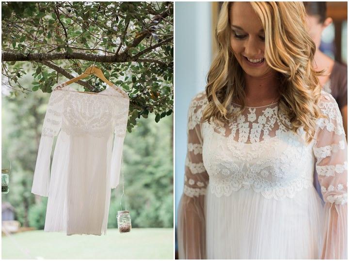 North Carolina brides dress Wedding By Heather and Jared Photography