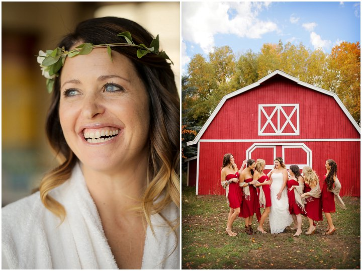 Wedding at Log Haven Restaurant bridesmaids in Utah Wedding By Pepper Nix Photography