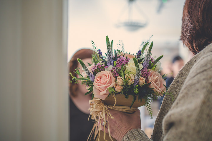 Chloe and Paul's Outdoor Autumn Wedding bouquet in North Wales By Lottie Elizabeth Photography