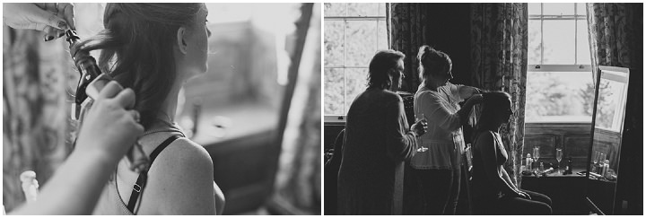 Autumnal Elmore Court Bride getting ready Gloucestershire Wedding By Scuffins Photography