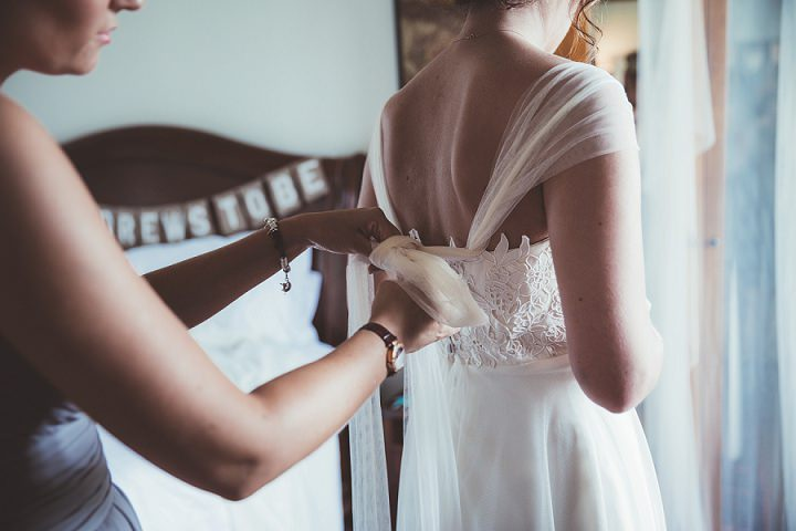 Bride getting ready at Doddington Hall Lincolnshire Wedding By Phillipa James Photography