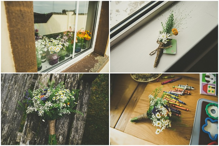 Handmade Wedding details at The Thatched Cottage in Derry by Paula Gillespie