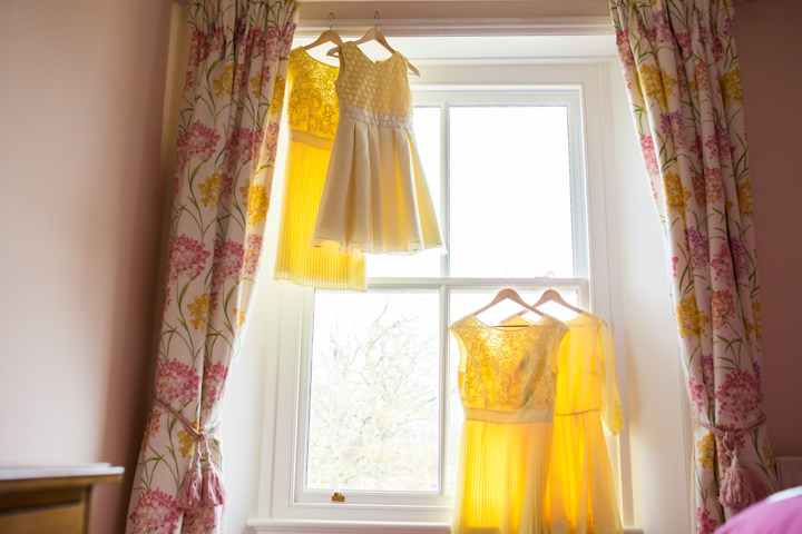 Vintage Inspired yellow dresses in Great Yarmouth Town Hall Wedding By Tatum Reid Photography