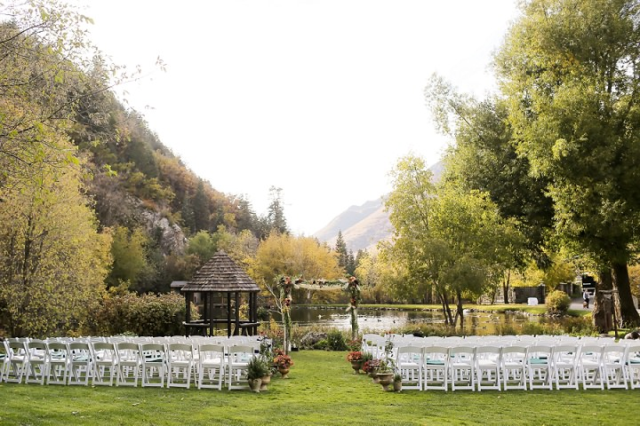 Wedding at Log Haven Restaurant in Utah Wedding outdoor ceremony By Pepper Nix Photography