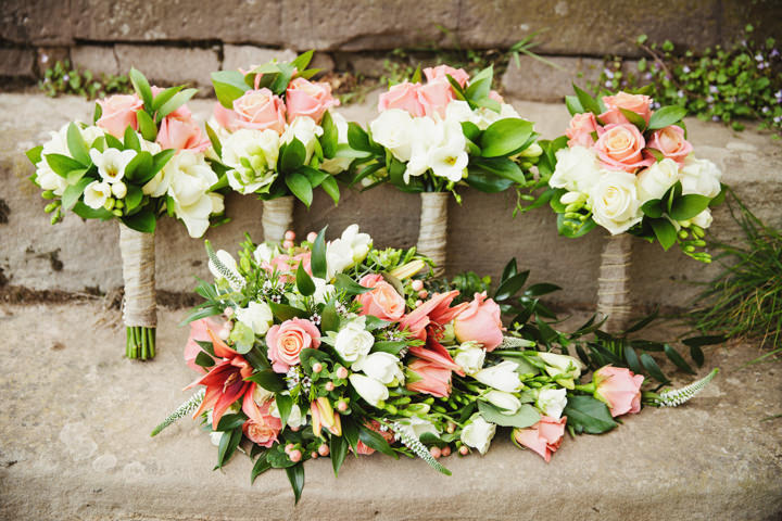 Barn Wedding bouquets in Hereford By Gemma William's Photography