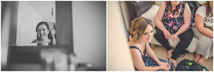 Chloe and Paul's Outdoor Autumn Wedding bride getting ready in North Wales By Lottie Elizabeth Photography