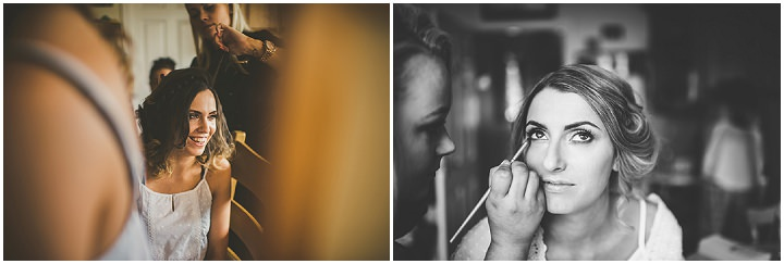 Handmade Wedding make up application at The Thatched Cottage in Derry by Paula Gillespie