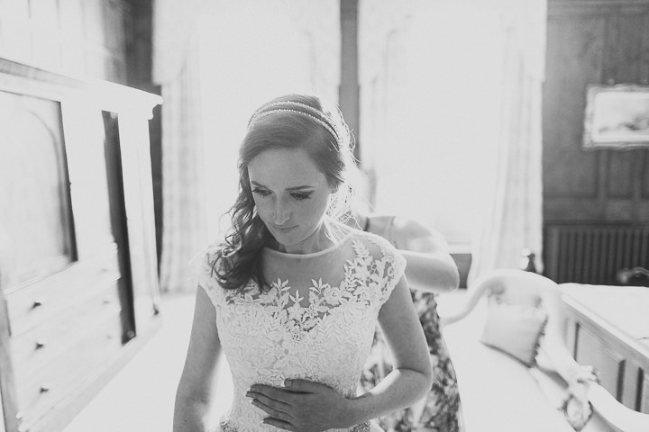 Autumnal Elmore Court bride getting ready in Gloucestershire Wedding By Scuffins Photography