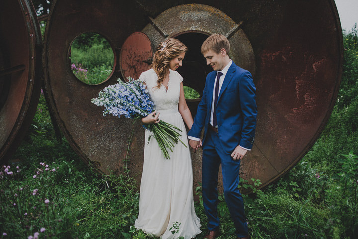 Laid Back Farm Wedding in Estonia with bride and groom By Gerry Sulp Photography