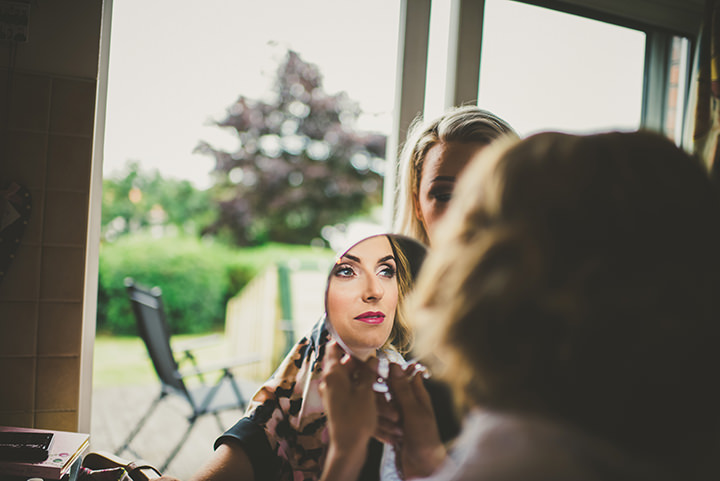 Handmade Wedding bridal prep at The Thatched Cottage in Derry by Paula Gillespie
