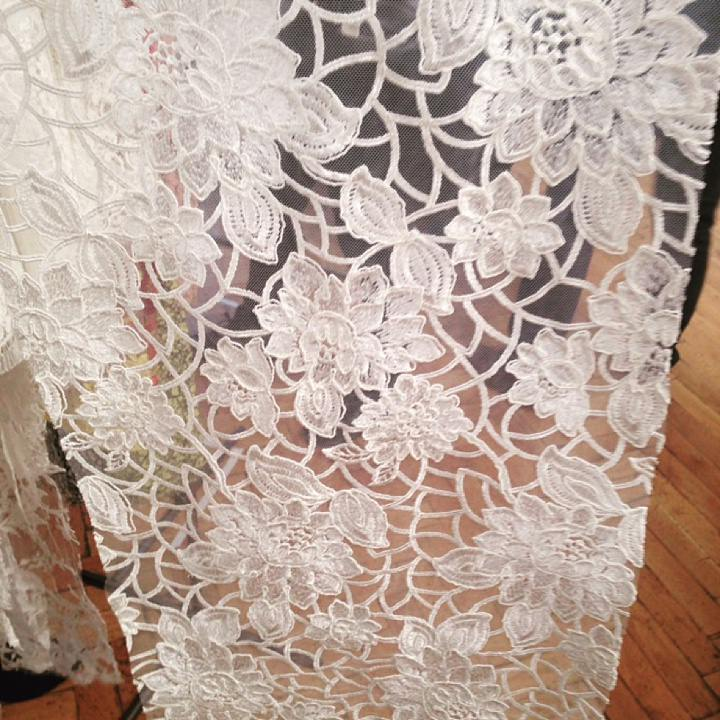 Diary of a Boho Bride - Whitney and Tom, Entry 4: Finding the Perfect Lace Wedding Dress Fabric
