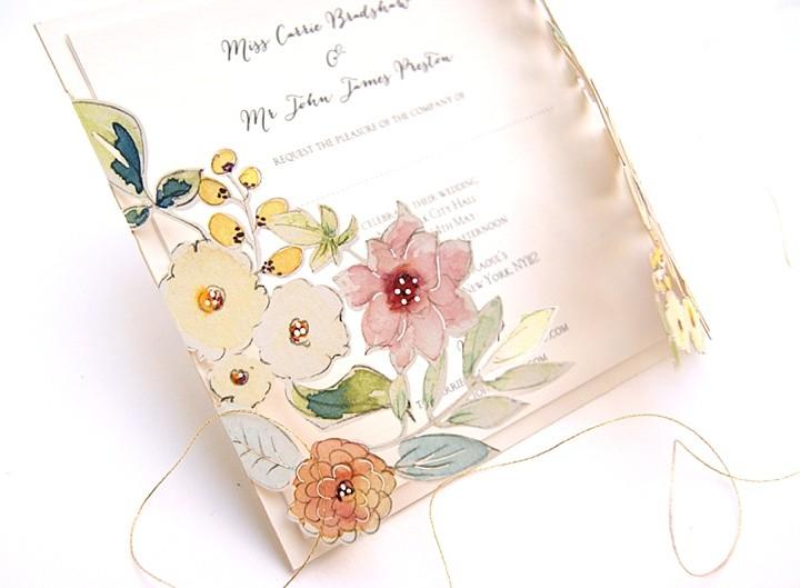 Boho Loves: Hummingbird Card Company - Unique, Stylish, Laser Cut Wedding Stationery