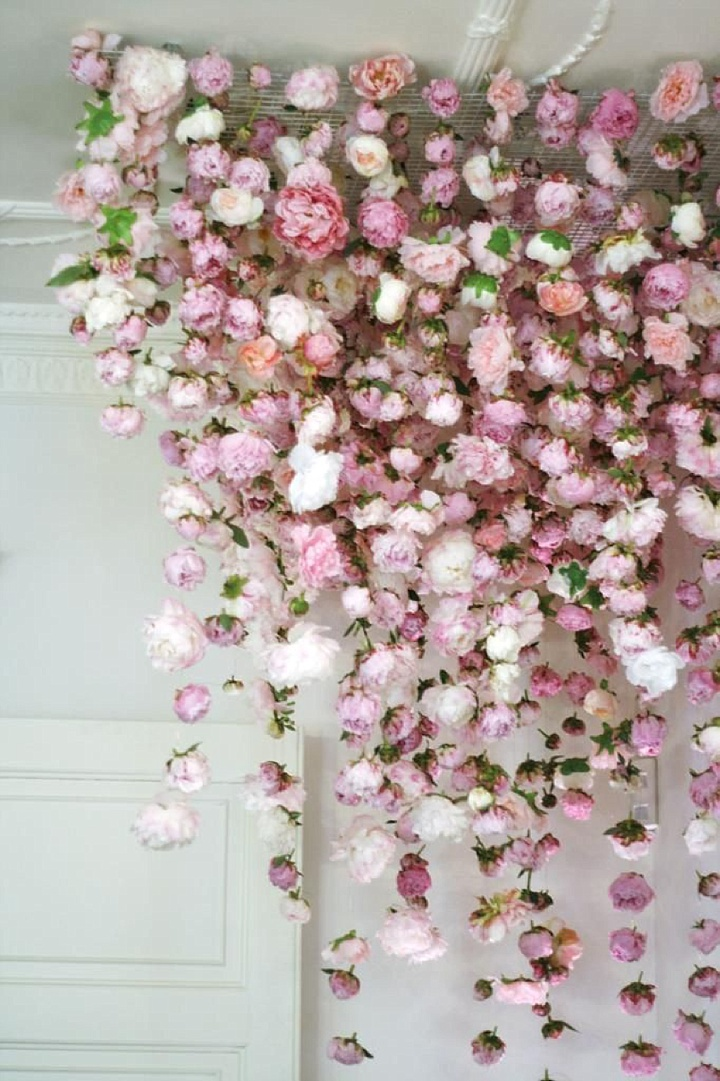 Boho Pins: Top 10 Pins of the Week from Pinterest - Flower Hanging Peony Decoration