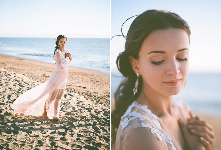 Bohemain Beach Bride Anniversary Shoot by Aizhan