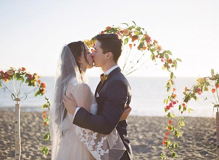 Bohemain Beach kissing Anniversary Shoot by Aizhan