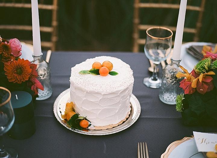Bohemain Beach Anniversary wedding cake Shoot by Aizhan