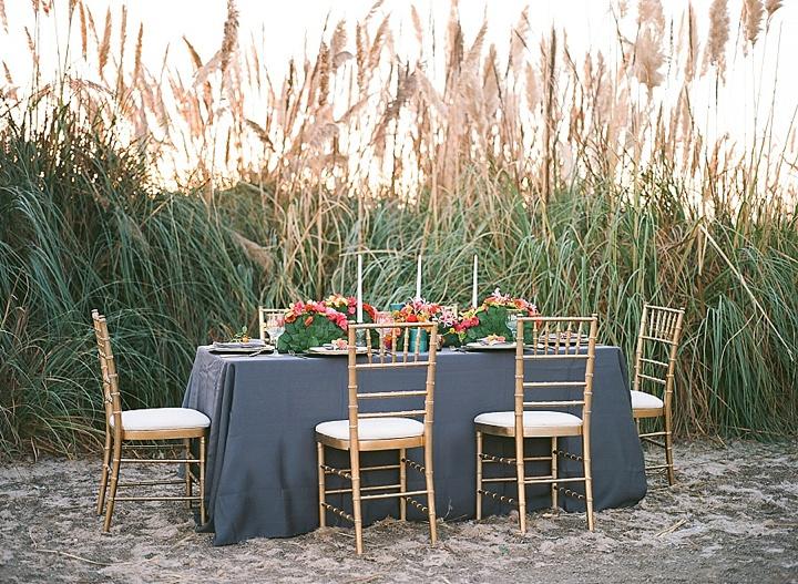Bohemain Beach wedding setting Anniversary Shoot by Aizhan