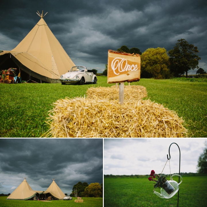 Romantic and Woodland Wedding Tipi Inspiration