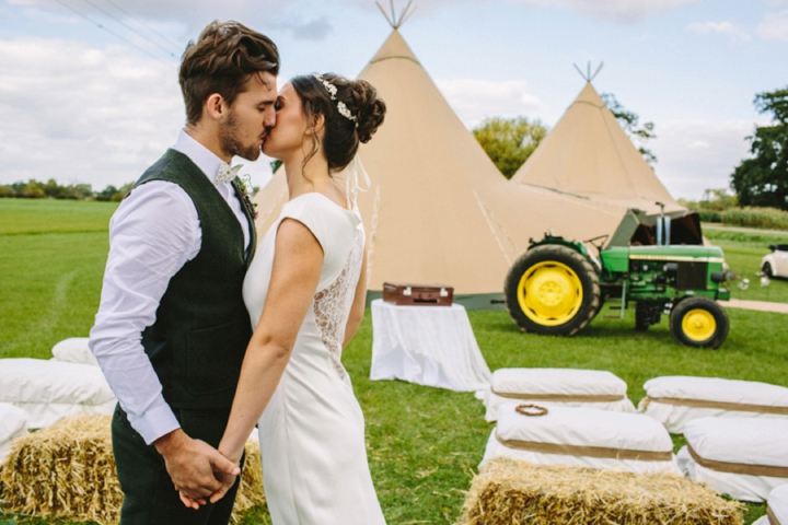 Romantic and Woodland Wedding Tipi Inspiration