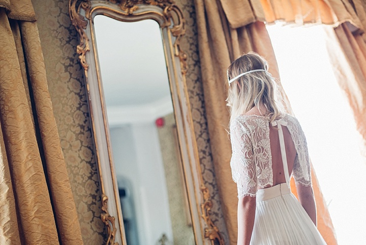Vintage Scandinavian and Bohemian Wedding Inspiration 2 piece dress