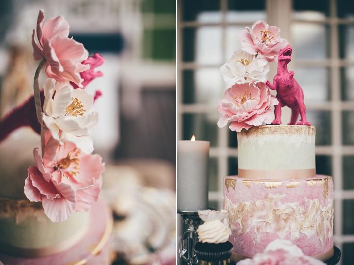Vintage Scandinavian and Bohemian Wedding Cake Inspiration