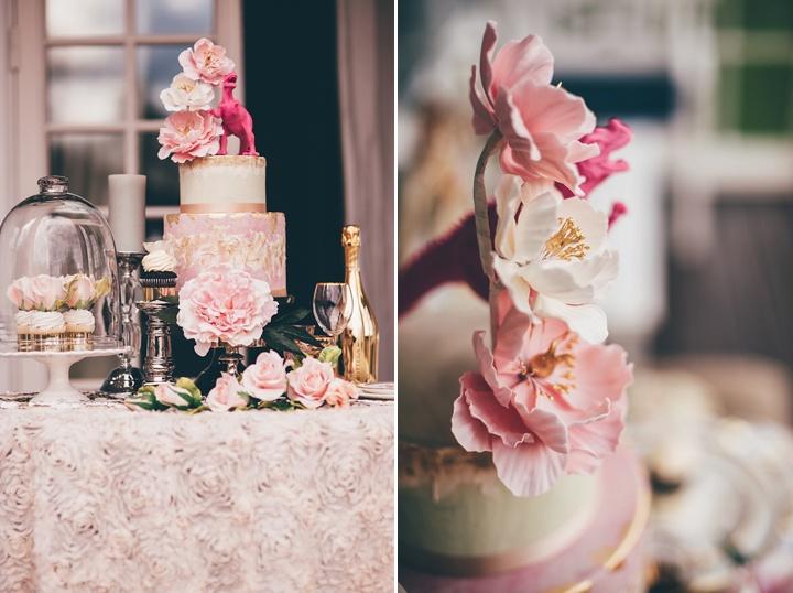 Vintage Scandinavian and Bohemian cake Wedding Inspiration