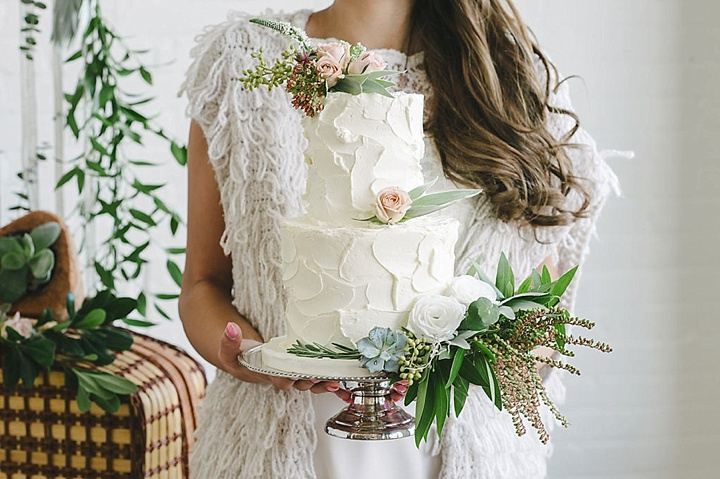 Boho Inspired Portrait Session wedding cake- #snugglesesh